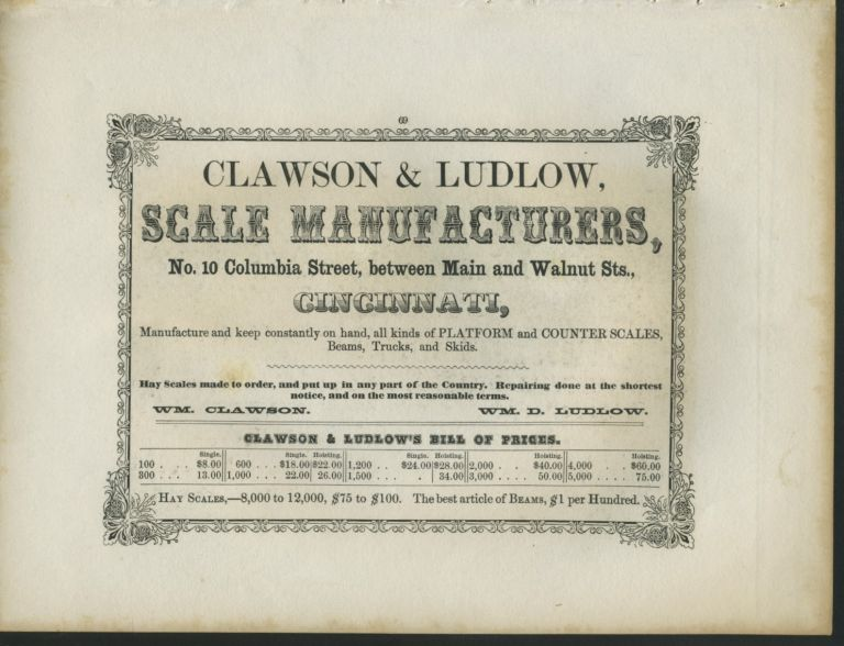 American Commercial Advertising - Clawson & Ludlow Scale Manufacturers.