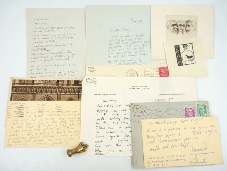 An archive of Leonard Baskin correspondence, collected by his W.W.I.I buddy and family friend. Leonard Baskin.