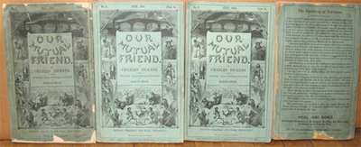 Our Mutual Friend. First Edition In Original Monthly Parts. Charles Dickens.