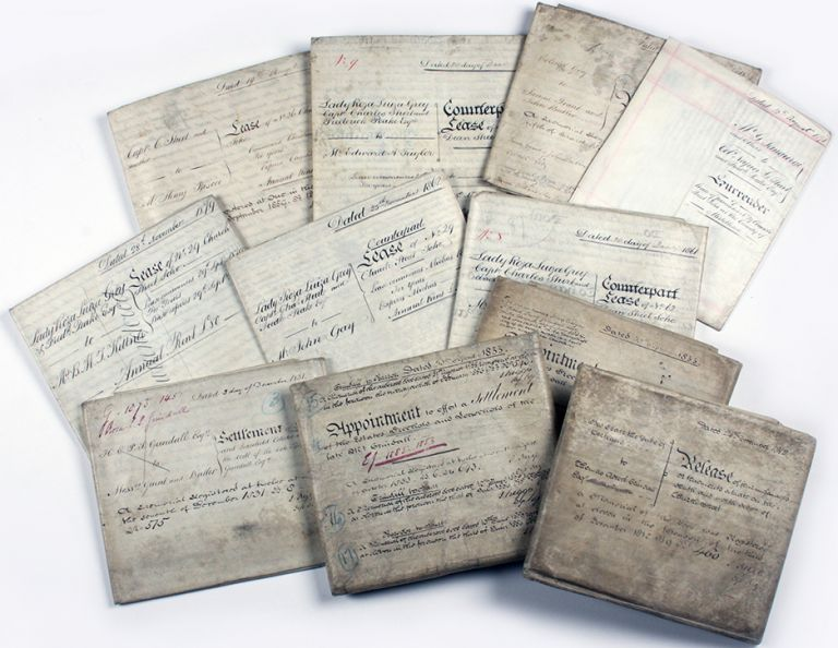 Collection of Vellum Indentures signed by Capt. Charles Sturt. Charles Sturt.