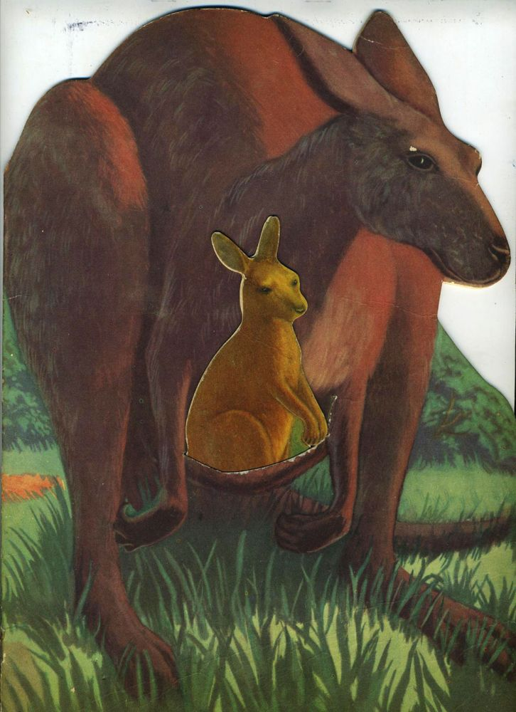Kankie Kangaroo... Who Couldn't Hop. Die cut shape book with separate joey in pouch. Roselle Ross.