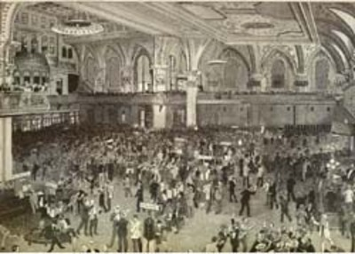 Recent Flurry in Wall Street - A Busy Morning in the Stock Exchange. artist Wall St. Charles Broughton.