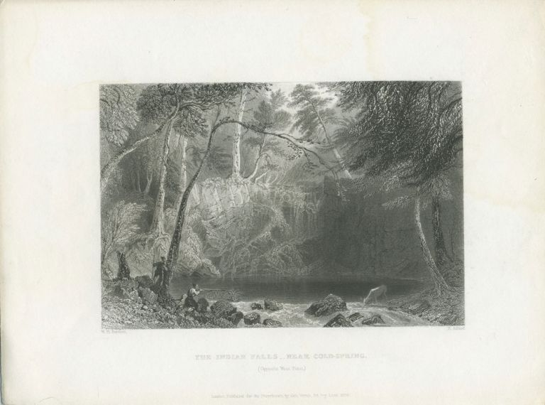 The Indian Falls Near Cold Spring. (Opposite West Point). W. H. Bartlett, sc H. Adlard.