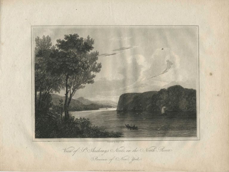 View of St. Anthony's Nose, on the North River. Province of New York. Geo Cooke, engraver.