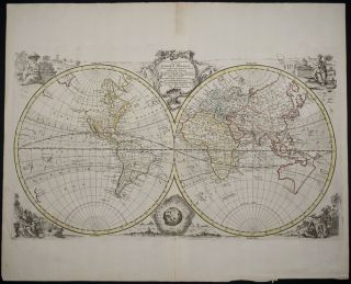 New and Accurate Map of All the Known World. Emanuel Bowen