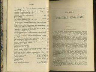 Colonial Magazine and Commercial-Maritime Journal.