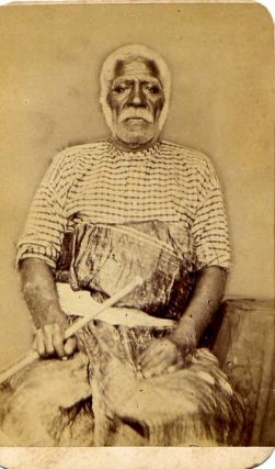 "Carte de visite of Cakobau, ""king"" of the Fiji Islands."