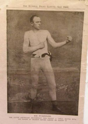 Bob Fitzsimmons, the clever Australian Heavyweight .