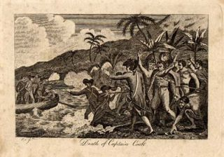 Death of Captain Cook. Print.