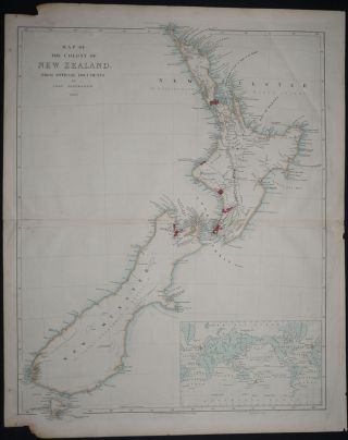 Map of the Colony of New Zealand; From Official Documents. John Arrowsmith
