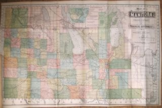 Map of Manitoba published by Authority of the Pronvicial Government Winnipeg, June, 1891. Minister for Agriculture and Immigration J. Greenway.