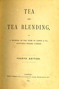 Tea and Tea Blending.