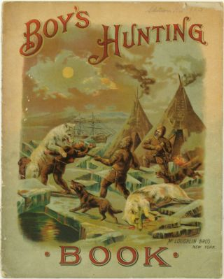 Boy's Hunting Book [with] the original pen and ink sketch for the kangaroo illustration.
