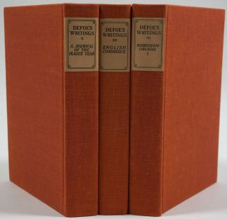 The Novels & Selected Writing of Daniel Defoe. 14 volumes complete. Large paper edition.