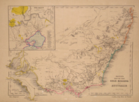 Bett's Family Atlas South Eastern Australia [with] Betts's Map of the Gold Regions of Australia....