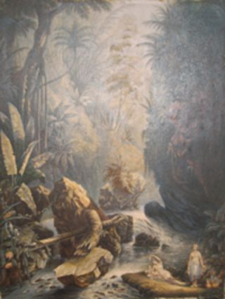The Mountain Stream. (Indians reposing). George Baxter