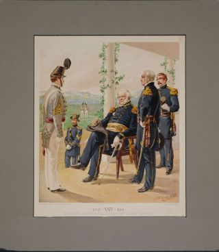 General-in-Chief Engineers Artillery Cadets. 1858 XXIV 1861. West Point Commandant & Cadets...