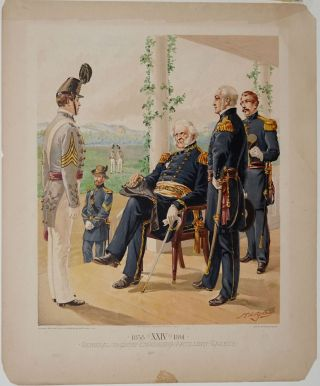 General-in-Chief Engineers Artillery Cadets. 1858 XXIV 1861. West Point Commandant & Cadets Uniforms.