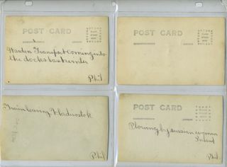 Russian Revolution. 5 real photo postcards.