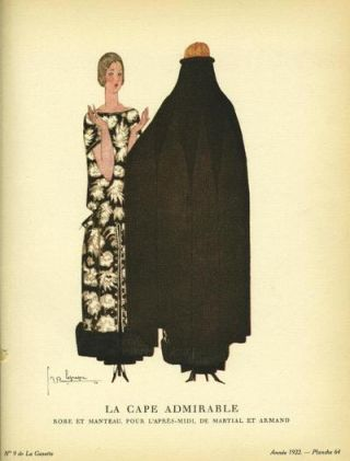 La Cape Admirable: Robe et Manteau, Pour L'apres-midi, De Martial et Armand Print from the...