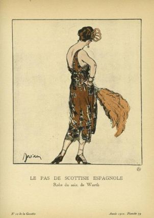 Le Pas de Scottish Espagnole: Robe du soir, de Worth Print from the Gazette du Bon Ton