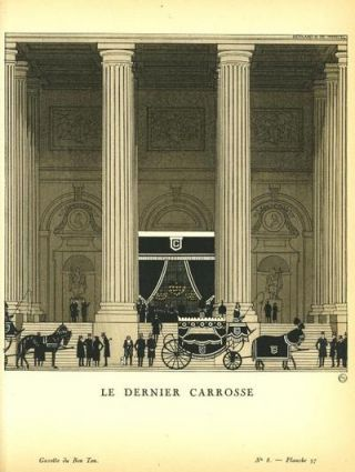 Le Dernier Carrosse. Print from the Gazette du Bon Ton