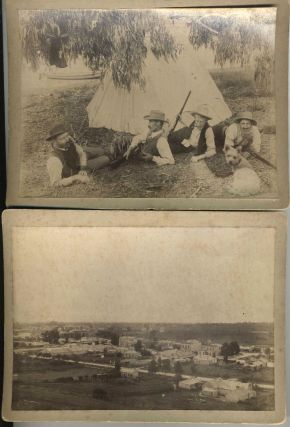 Albumen cabinet card photographs of a shooting party ca. 1890. Photography, Australia