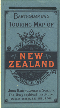 Bartholomew's Touring Map of New Zealand, the Edinburgh Geographical Institute