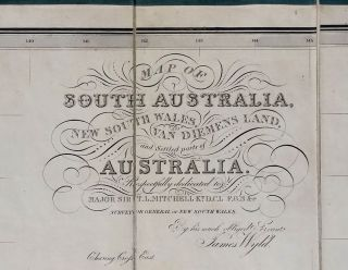 Map of South Australia, New South Wales, Van Dieman's Land and the Swan River Settlement, with plans of the City of Sydney, and of the town of Adelaide. In the original slip case.
