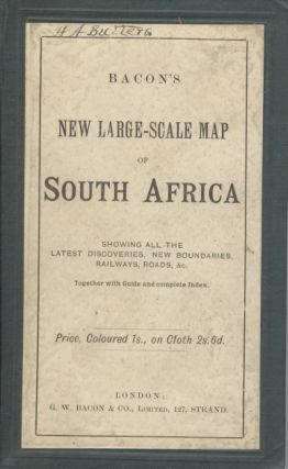 Bacon's New Large-Scale Map of South Africa, with handbook bound in. G. W. Bacon
