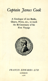 Captain James Cook. Catalogue No. 916: A Catalogue of 200 Books, Charts, Prints, etc., to mark...