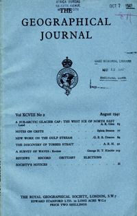 The Journal of the Royal Geographical Society, Monthly issue for August 1941. Torres Strait,...