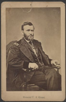 Collection Ulysses S. Grant ephemera including an early cabinet card, the only complete photo of...