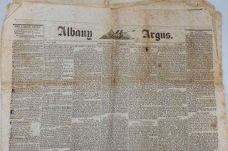 Albany Argus, November 23, 1838 newspaper article on the Canada War, the Battle at Wind Mill...