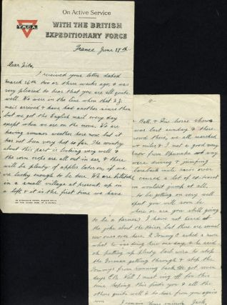 World War One Letter from New Zealand soldier stationed in France to his home in Opunake. New...