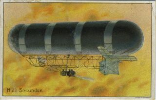 Bour's Royal Garden Tea advertising trade card with dirigible. Tea, Advertising trade cards
