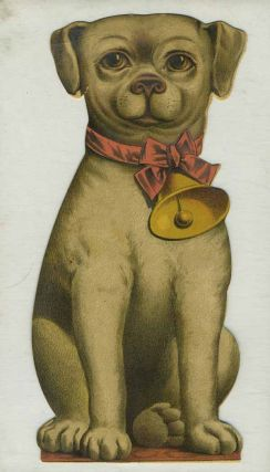 Bogue's Soap, die cut advertising card in shape of dog. China, Bogue's Soap trade card