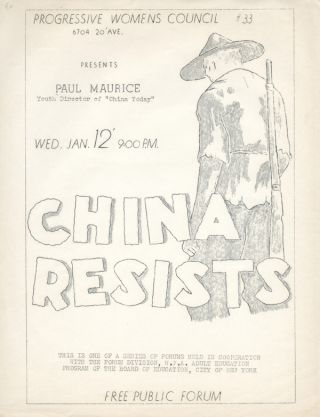 China Resists. Progressive Womens Council #33. China