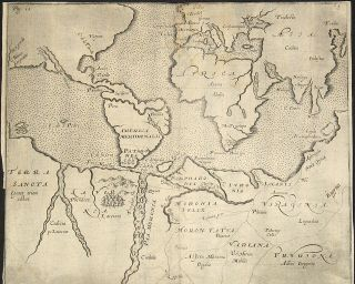 Set of five maps of an imaginary Australia/Antarctic.