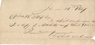 Receipt for Mitchell's World map 1837