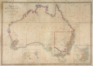 Map of Australia, Compiled from the Nautical Surveys, Made by Order of the Admiralty, And other Authentic Documents. By James Wyld. Geographer to the Queen. London. Published by James Wyld. Charing Cross East & Model of the Earth, Leicester Sq.