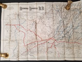 Map of the Richmond and Louisville Railroad, Connecting the Railroads of Virginia with the...