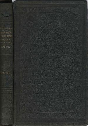 Geographical Discoveries in the Arctic Regions, by Capt. C. F. Hall. Annual Report of the...