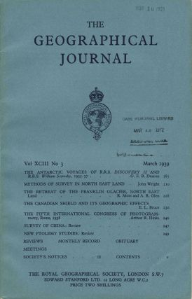 The Journal of the Royal Geographical Society, 'The Antarctic Voyages of R. R. S. Discovery II...