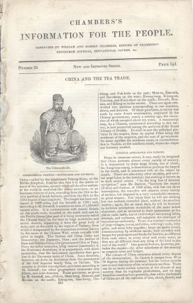Chambers's Information for the People, Number 25, China and the Tea Trade. China, William and...