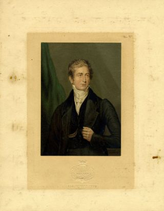 Baxter print portrait of Sir Robert Peel. ALS with a signed letter. Sir Robert Peel