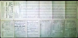 1867 NJ & Camden & Amboy Railroad Time Table.