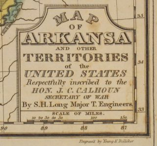 Geographical, Historical, And Statistical Map Of Arkansas Territory.