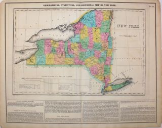 Geographical, Statistical, and Historical Map of New York. New York, Henry Carey, Isaac Lea