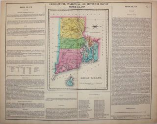 Geographical, Statistical, and Historical Map of Rhode Island. Rhode Island, Henry Carey, Isaac Lea